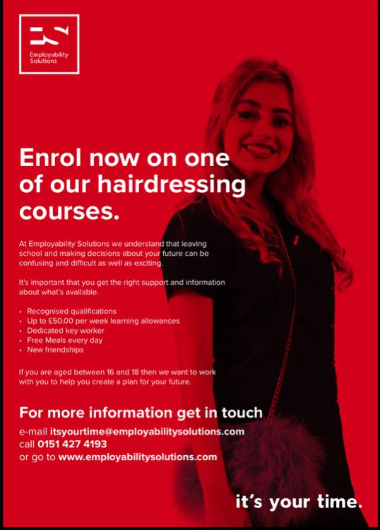 Enrol now on one of our hairdressing courses!